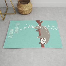 Sloth card - just 5 more minutes Rug