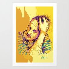 Digital Drawing #28 - Heath Ledger Art Print