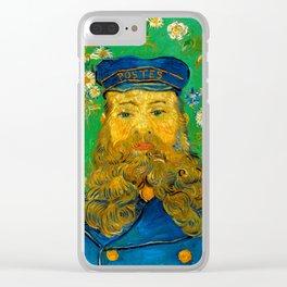 """Vincent van Gogh """"Portrait of Joseph Roulin"""" Clear iPhone Case"""