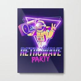 Synthwave Space #30 Metal Print