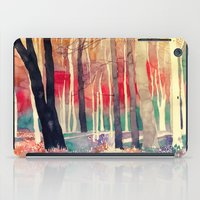 woods iPad Cases featuring Woods by takmaj