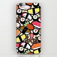 sushi iPhone & iPod Skins featuring Sushi! by thickblackoutline