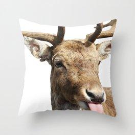 Stick it Deer Throw Pillow