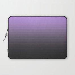 Lavender Gray Translucent Stripes Laptop Sleeve