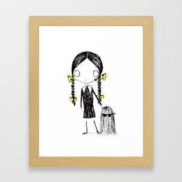 Wednesday Addams Illustrated Framed Art Print