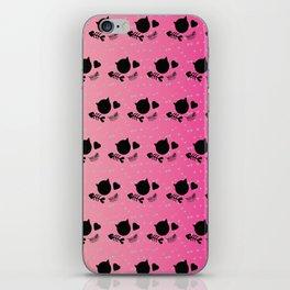 Tropical Pink Radient Cat Gems Pattern iPhone Skin