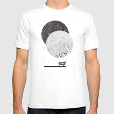 Calculating a Jump over the Moon SMALL Mens Fitted Tee White