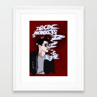 arctic monkeys Framed Art Prints featuring Arctic Monkeys- Up in Smoke by Tune In Apparel