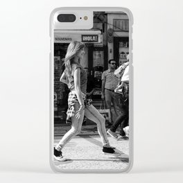 Dancer on the street Clear iPhone Case