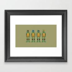 TMNT 8-Bit Framed Art Print