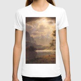 Estes Park Colorado 1869 By Albert Bierstadt | Reproduction Painting T-shirt