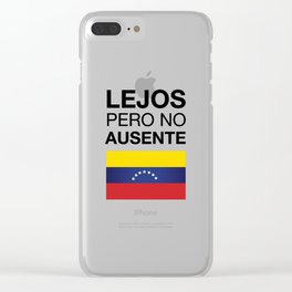 Far but not absent Clear iPhone Case