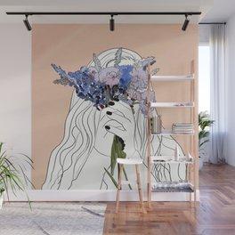 Flower Lady Wall Mural