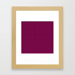Mini Black and Hot Pink Cowgirl Buffalo Check Framed Art Print