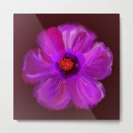 Magenta Hibiscus #Flower #DigitalArt #Nature Metal Print