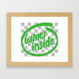 Gamer iNSIDE Framed Art Print