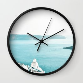 Greece Thera View Wall Clock