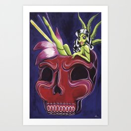 Tiki Zombie Punch Art Print