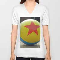 toy story V-neck T-shirts featuring Toy Story Ball by Jillian