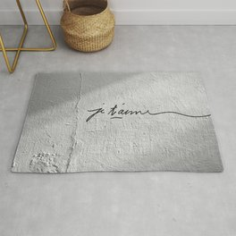 Je t'aime | Love message in a wall of Lyon | Romantic bedroom decor Rug