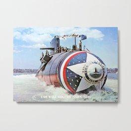 USS WILL ROGERS (SSBN-659) Metal Print