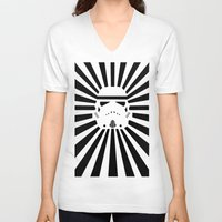 storm trooper V-neck T-shirts featuring Storm Trooper by RobotSpaceBrain