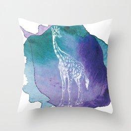 Color Spot Safari Giraffe Throw Pillow