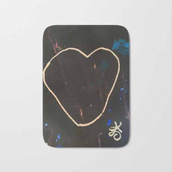 Heart Valentine. Be Mine. Literally. Bath Mat
