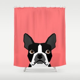Kennedy - Boston Terrier cute dog themed gifts for small dog owners and Boston Terrier gifts  Shower Curtain