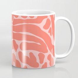 King Cheetah Print in Neon Coral + Blush Pink Coffee Mug