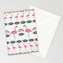 Summer decor with flamingo birds Stationery Cards