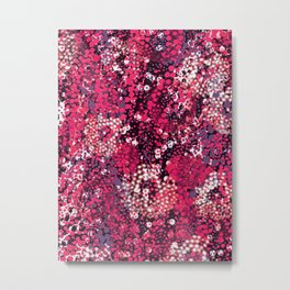 sparkling dots in red Metal Print