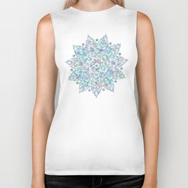 Mermaid Dreams Mandala Biker Tank