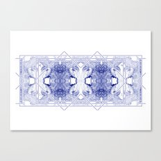 The Willow Pattern (Blue variation) Canvas Print