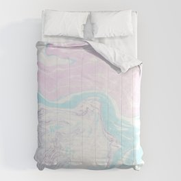 Colorful Waves Marbling Comforters