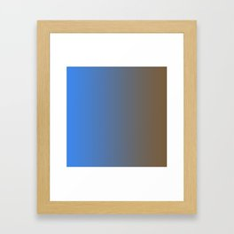 Brown and Blue Gradient 014 Framed Art Print