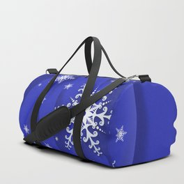 Abstract background with snowflakes Duffle Bag