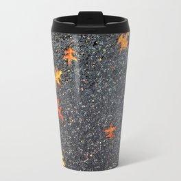 Scattered Leaves on Pavement no.5 Travel Mug