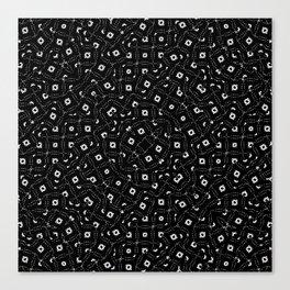 Black and White Intricate Geometric Print Canvas Print