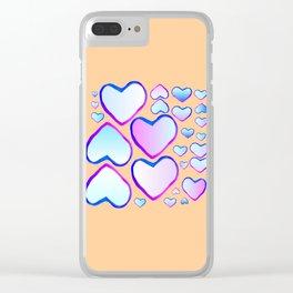 Coeur douceur Clear iPhone Case