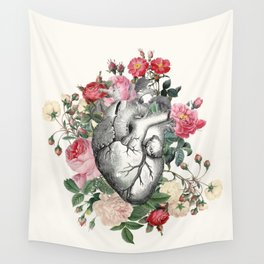 Roses for her Heart Wall Tapestry