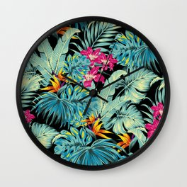 Tropical Greenery Island Dreams Wall Clock