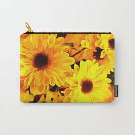 Daisies Yellow 3 Carry-All Pouch