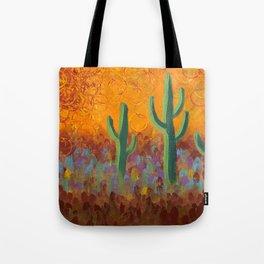 Saguaros Dreaming Tote Bag