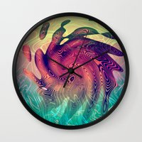 underwater Wall Clocks featuring Underwater by GypsYonic