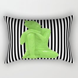 My  inner Green Buddha | Namaste Pop Art Buddha Rectangular Pillow
