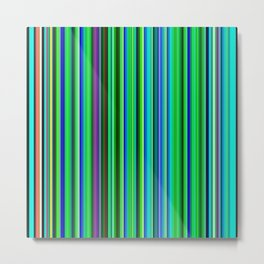 Colorful Barcode Metal Print