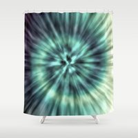 tie dye Shower Curtains featuring TIE DYE II by Nika