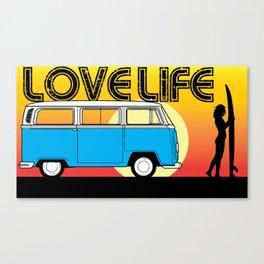 Love Life - Surf Van Canvas Print