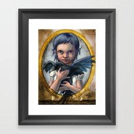 Ravenchild Framed Art Print